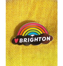 Enamel Brooch: Brighton rainbow