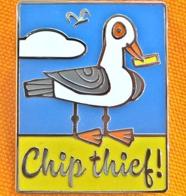 Enamel Brooch: Chip Thief