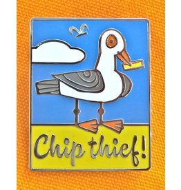 Enamel Brooch: Chip Theif