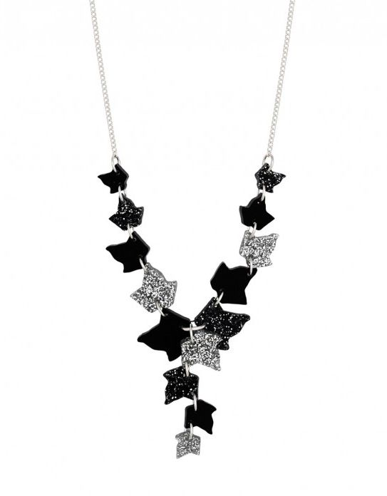 Climbing Ivy Necklace - Black