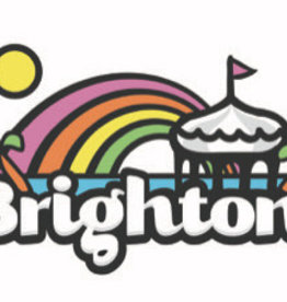 Large Brighton Rainbow poster