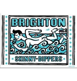 Brighton Skinny Dipper large poster