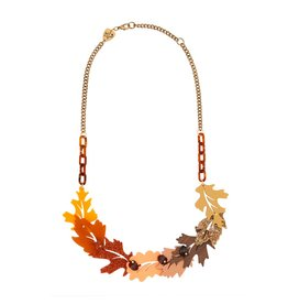 Russet Leaves Link Necklace