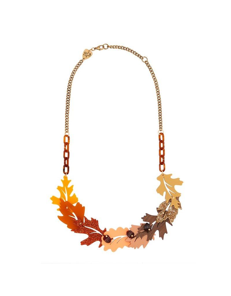 Russet Leaves Link Necklace