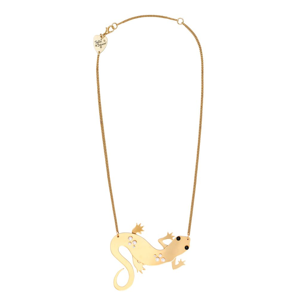 Golden Newt Necklace