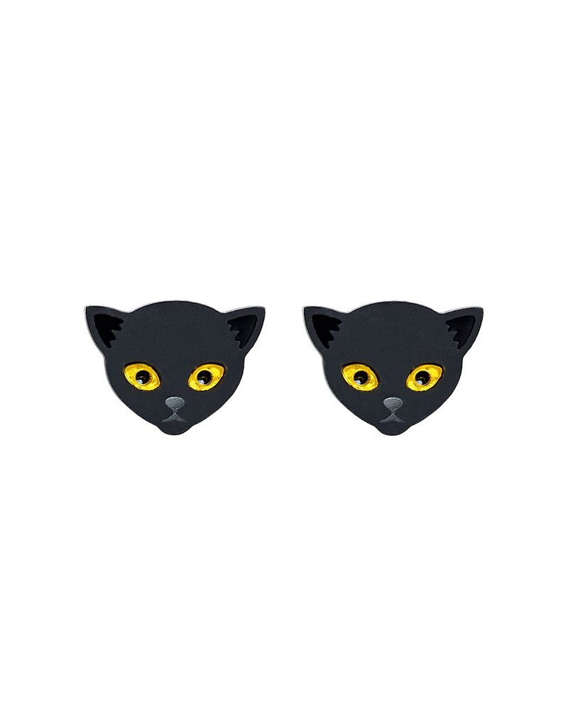 Witches Cat Earrings