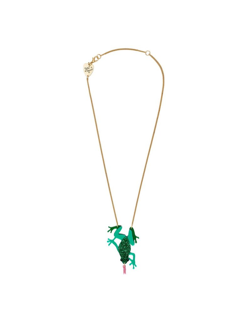 Emerald Frog Necklace