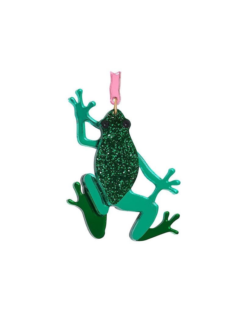 Emerald Frog Brooch