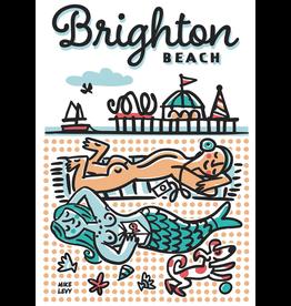 Brighton Beach Sunbathers Large Poster