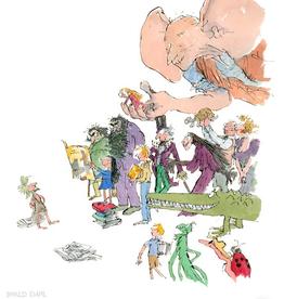 Roald Dahl and Quentin Blake 40th Anniversary print.
