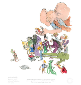 Roald Dahl and Quentin Blake 40th Anniversary print.