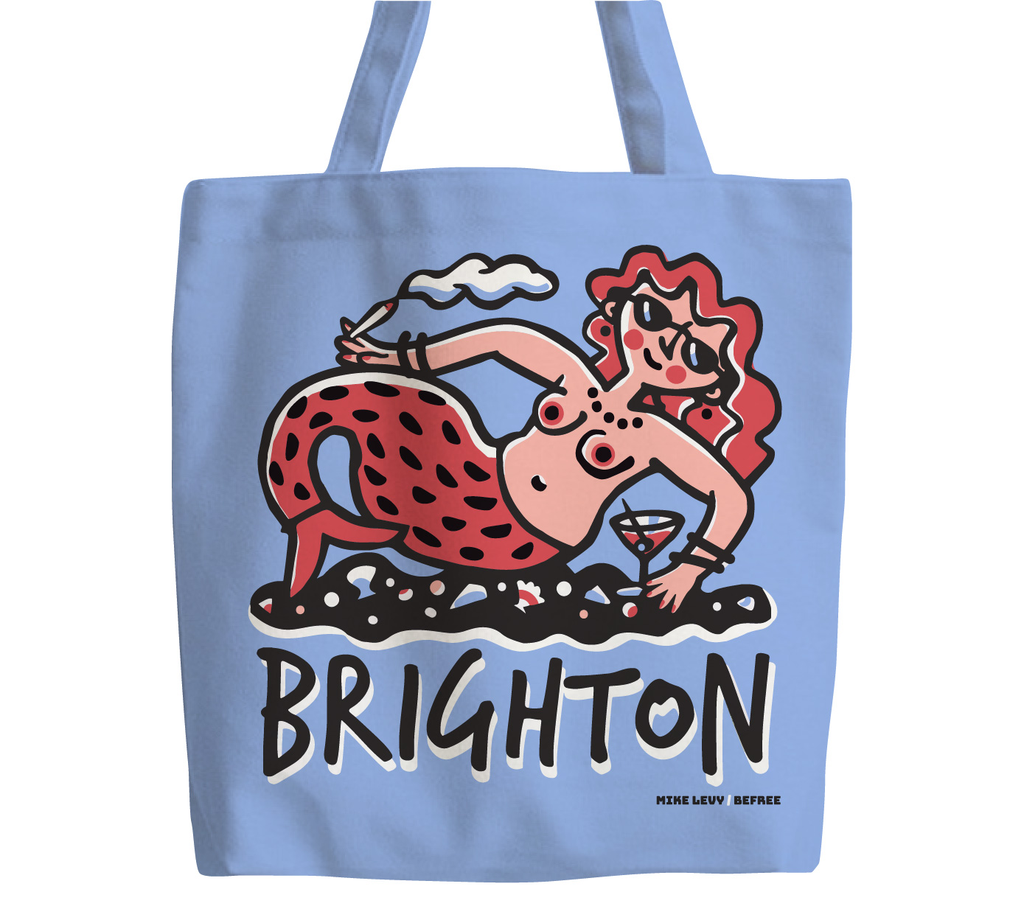 Brighton Party Mermaid tote bag