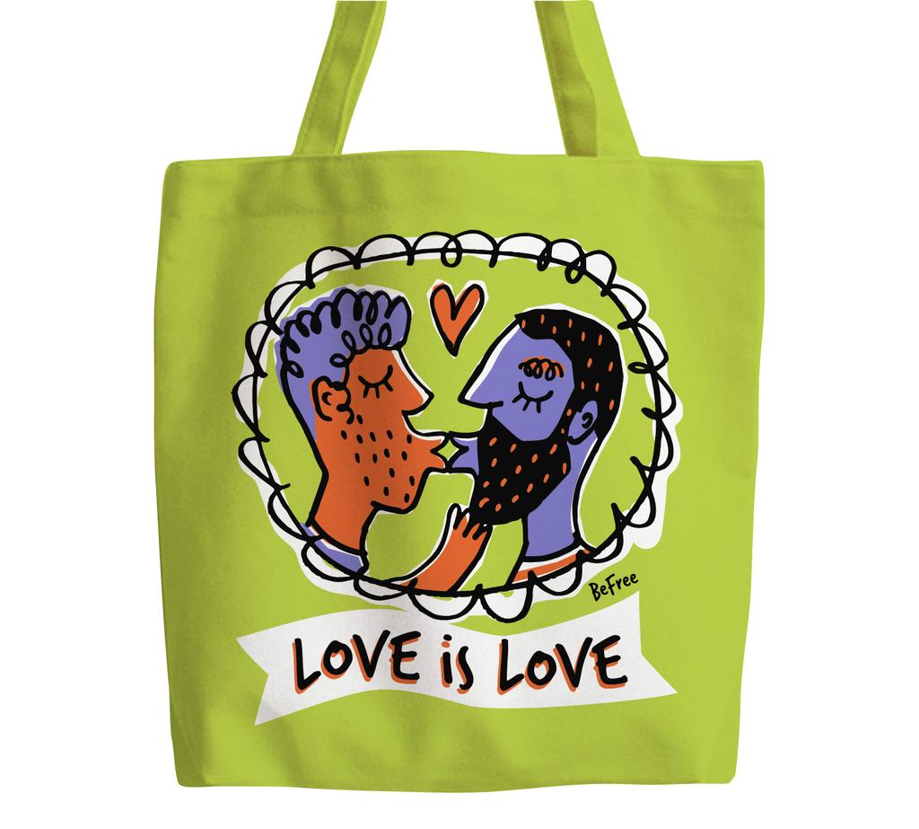Love is love gents tote bag
