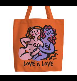 Love is love ladies tote bag