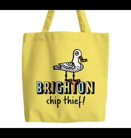 Brighton chip thief tote bag (yellow)