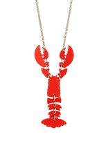 Lobster Necklace - Ruby Shimmer