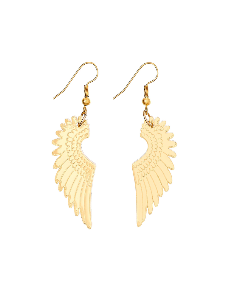 Pegasus Mini Drop Earrings - Mirror Gold