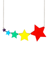 Shooting Star Necklace - Mirror Rainbow