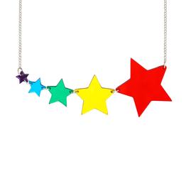 Shooting Star Necklace - Mirror Rainbow