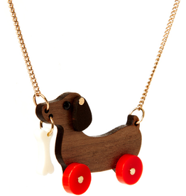 Dog on Wheels Necklace