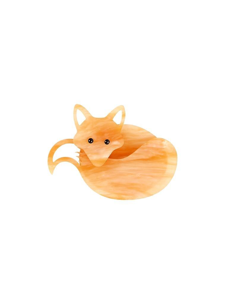 Fox Brooch - Honey