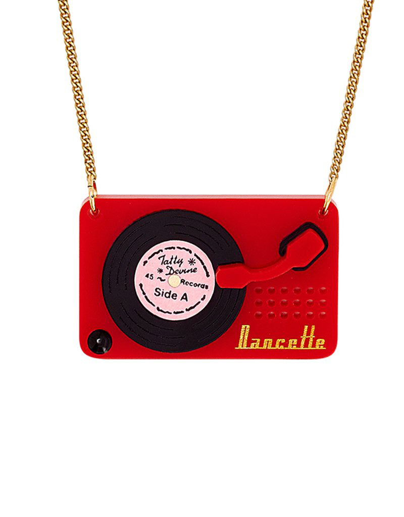 Record Player Necklace