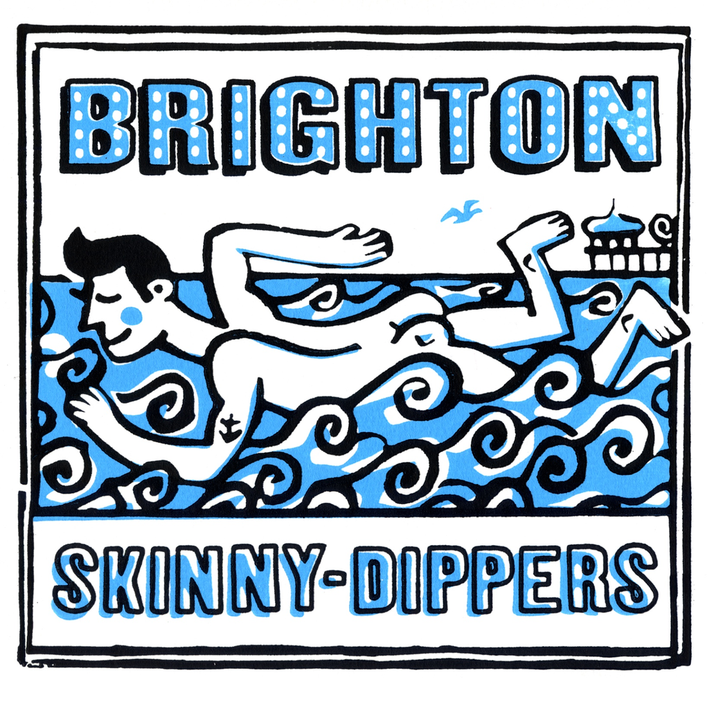 Brighton Skinny-Dippers Greeting Card