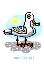 Chip Thief! Greeting Card