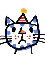 Cross Cat Greeting Card