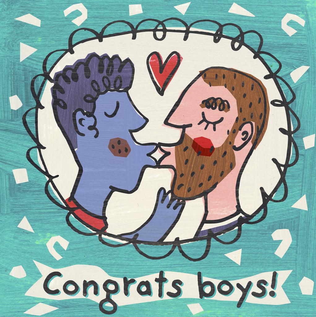 Congrats boys Greetings Card