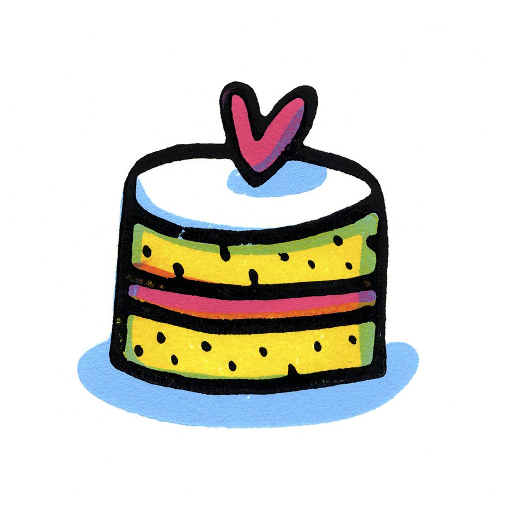 Lovely Cake Greeting Card
