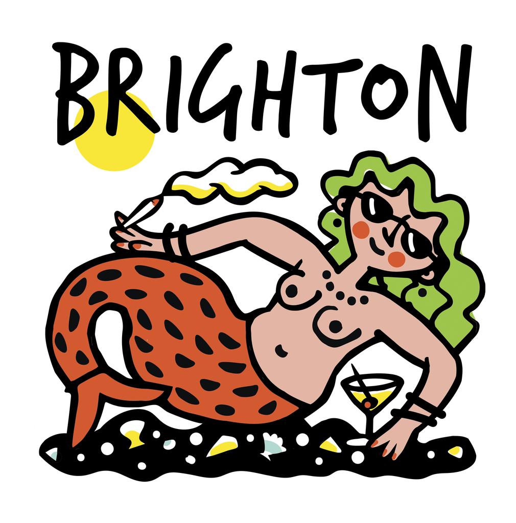 Brighton Party Mermaid Greeting Card