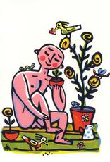 Adam in the Garden Greeting Card