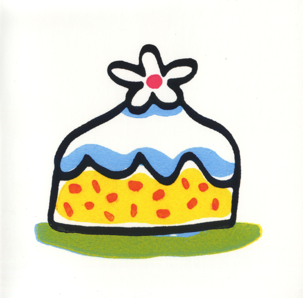 Pointy Cake Greeting Card