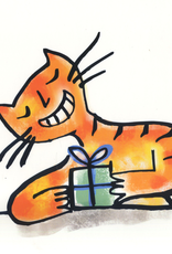 Crazy Cat Greeting Card