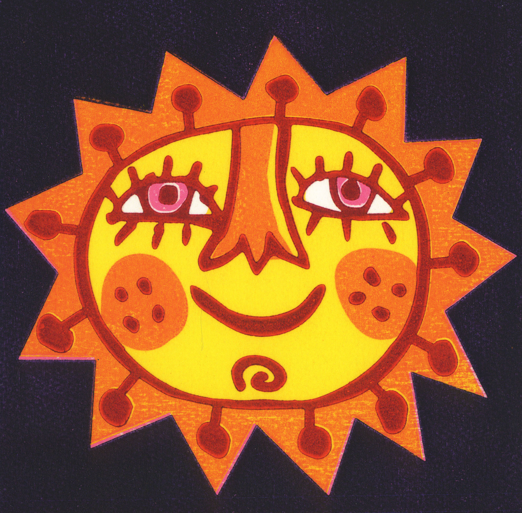 Smiley Sun Greeting Card