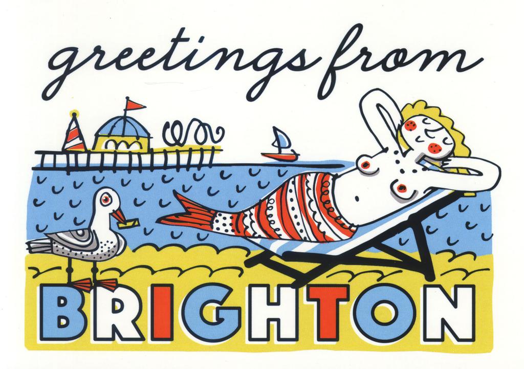 Brighton Mermaid greeting card