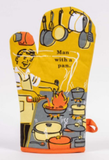 Blue Q Man With a Pan Oven Mitts