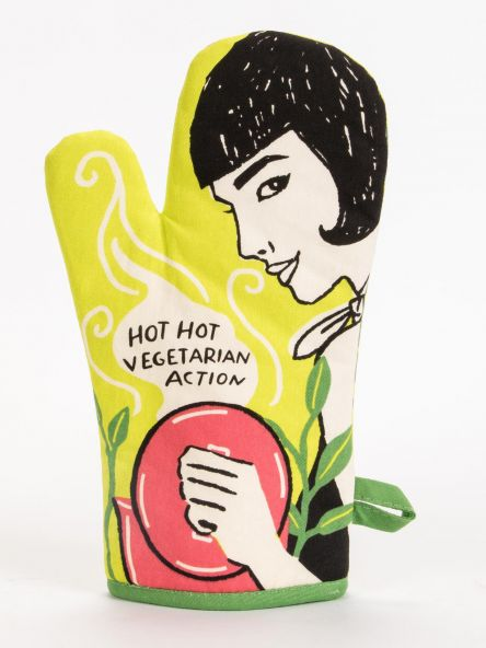 Blue Q Hot Hot Vegetarian Action Oven Mitts