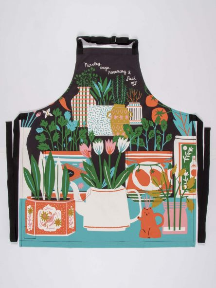 Blue Q Parsley Sage Rosemary and Fuck Off Apron