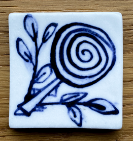 Small tile with beautiful rose 40x40mm