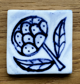 Small tile with glorious flower 40x40mm