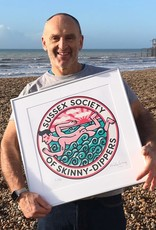 Sussex Society of Skinny-dippers screen print
