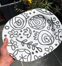 Flower patter platter