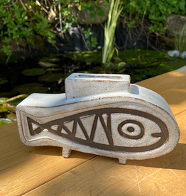 Handbuilt fish vase