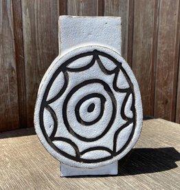 Handbuilt  embossed stoneware vase
