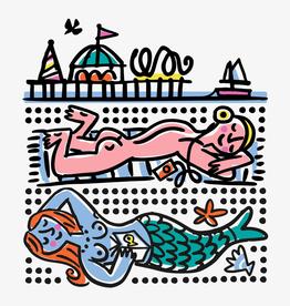 Sunbathers Greetings Card