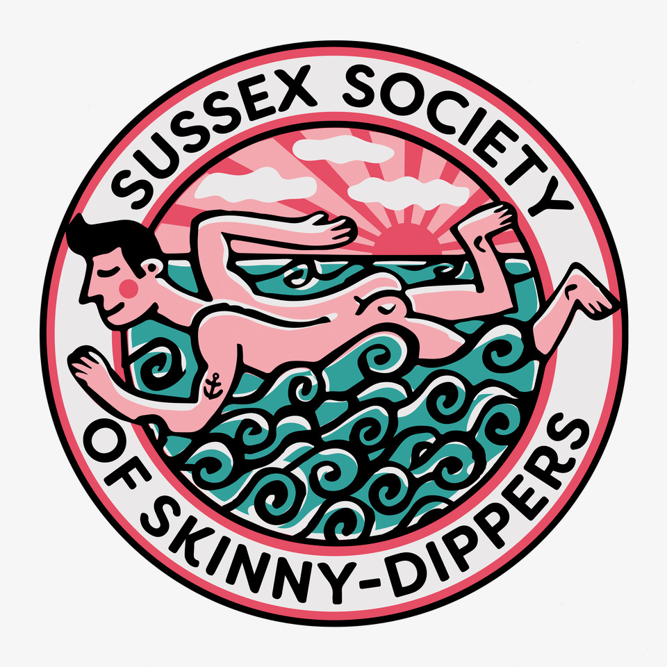 Sussex Society of Skinny Dippers Greetings Card