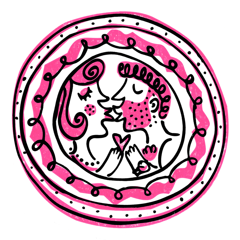 'Smooch' (pink kiss)