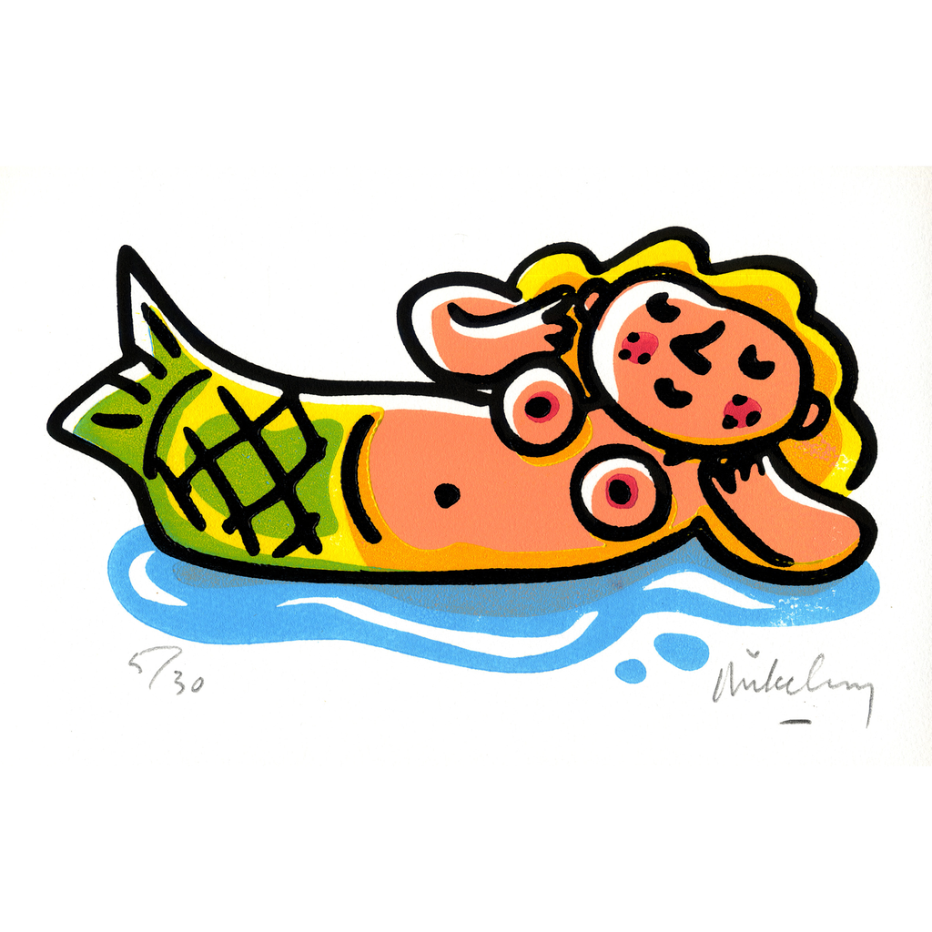 Snoozing Mermaid
